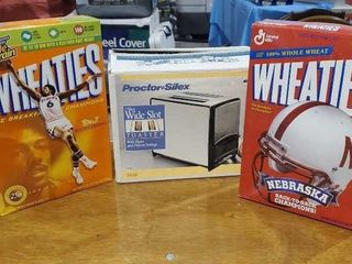 Toaster, Wheaties cereal boxes