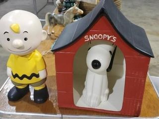 Vintage hand painted ceramic Snoopy, Charlie Brown