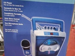 Portable karaoke machine