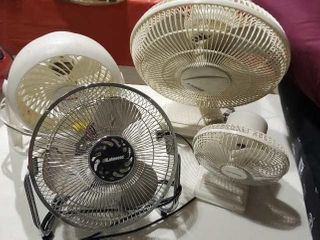 Oscillating desk fans, set of 4