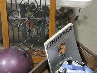 Player collection, bowling ball, Penthouse