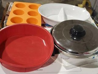 Kitchen collection, skillet, divided casserole