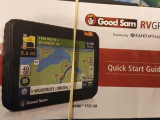 Good Sam RV GPS with charger, stand