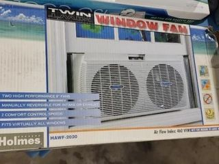 Twin window fan