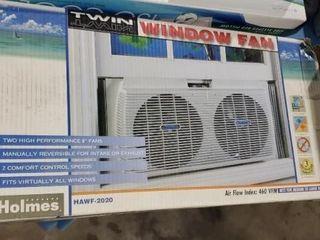 Twin window fan