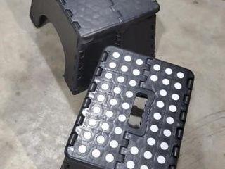 Folding step stools, set of 2