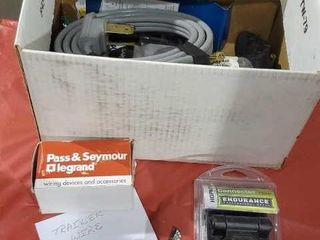 Box of trailer and camper wiring, connectors
