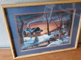 Horse drawn sleigh ride artwork by Iverson