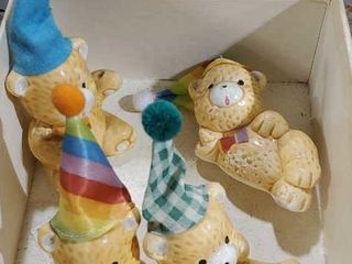 Ceramic birthday bears