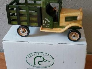 Ducks Unlimited wooden truck