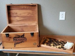 Pheasants Forever dovetailed game chest