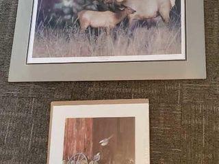 Wildlife prints, set of 2