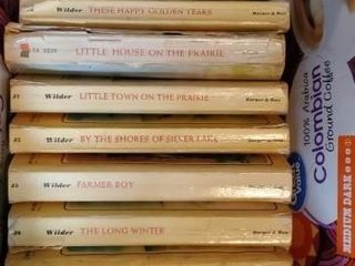 Box of Little House on the Prairie books