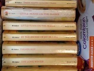 Box of Little House on the Prairie books