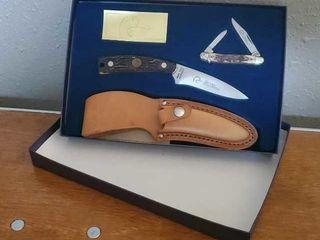 Ducks Unlimited folding pocket knife boxed set