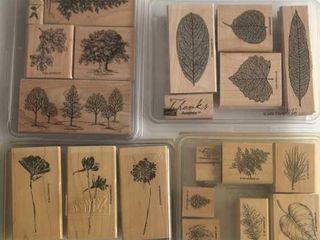 4  Stampin Up Tree   leaf Sets