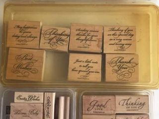 4  Stampin Up Word Sets