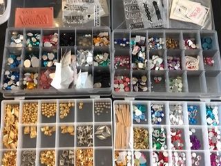 4  Organizers w  Beads and Stones