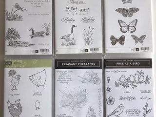 6  Stampin Up Bird   Butterfly Sets