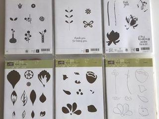 6  Stampin Up Blossom Sets