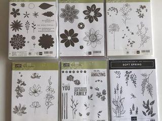 6  Stampin Up Floral Sets