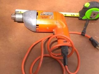 Black   Decker Rev Drill Tested And Working