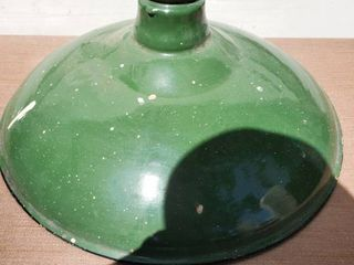 Green Enamel lamp Shade