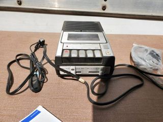 Portable JC PENNY Cassette Recorder  Tested and Working