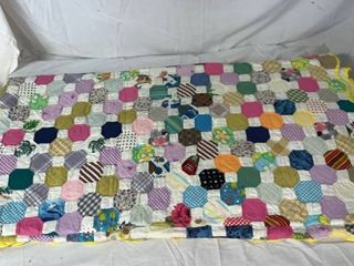 Amazing Handmade Quilt Queen King 88x90 Inches location Shelf 2