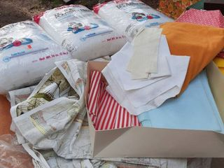 lot of Fabric with Pillow Form
