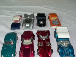 lot of 8 Vintage Hot Wheels lesney Play Art Cars Some Redline location Shelf 1