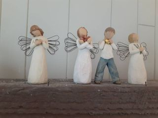 lot of 4 Willow Tree Angels