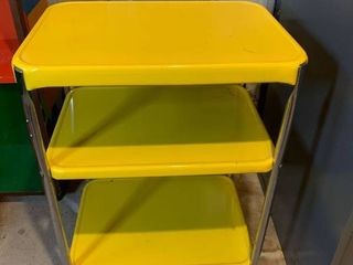Great little Yellow Metal Kitchen Carr location Basement Storage