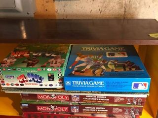 lot of 6 Sports Board Games Basement Storage Shelf 1