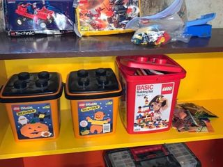 Huge lot of loose lEGOs Basement Storage Shelf 3