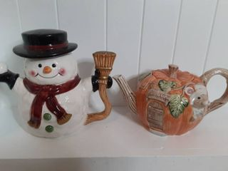 lot of 2 Holuday Cookie Jars