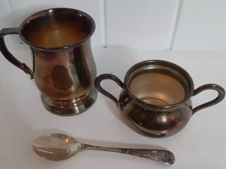 EPNS Cream and Sugar Set With Spoon