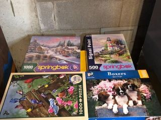 lot of 10 Puzzles location Basement Storage Shelf 1