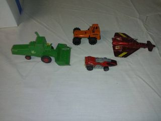 lot Of 4 Jumbo Sized Diecast Cars From Various Makers