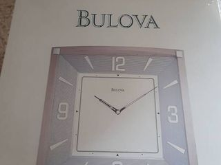 NIB Bulova Wood Wall Clock