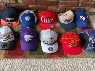 lot of 10 Nice Sports Hats Some Unused location Master Closet