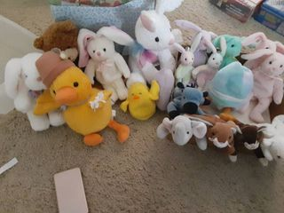 lot of TY Beany Babies and Stuffed Animals