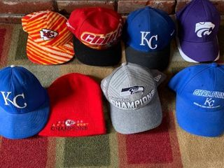 lot of 8 Nice Sports Hats location Master Closet