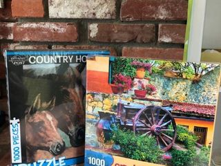 lot of 2 Puzzles location Fireplace