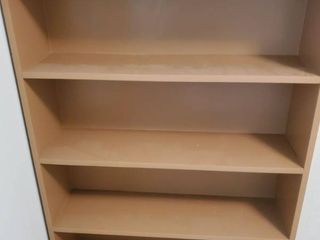 Tan Wooden Bookshelf
