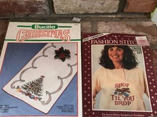 lot of 5 Cross Stitch Patterns location Fireplace