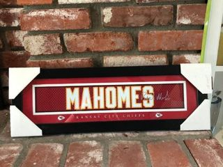 Patrick Mahomes Jersey Print location Fireplace