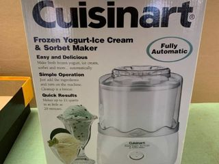Cuisinart Frozen Yogurt Ice Cream and Sorbet Maker Working location Beside Dryer