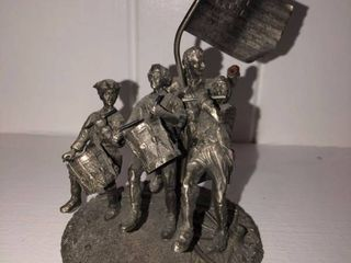 Revolutionary War Metal Figurine location Fireplace Right Shelf