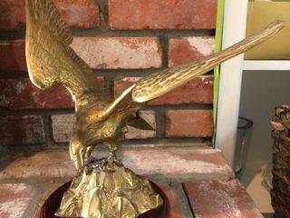 Bronze Eagle Statue location Fireplace